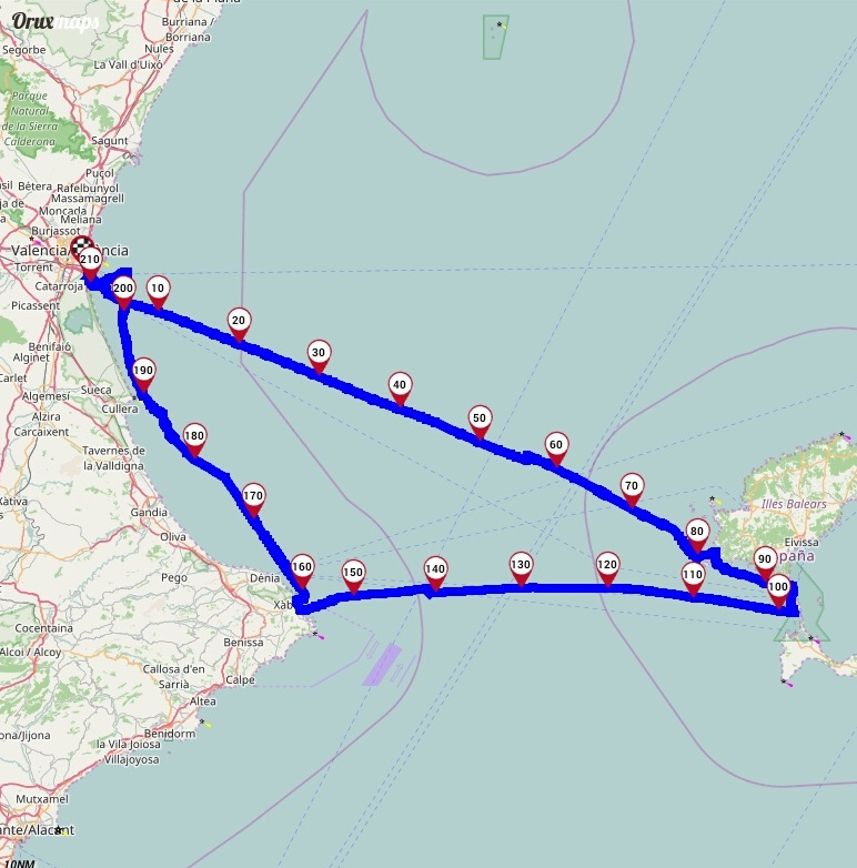 Ruta Prácticas Navegación SirocoDiez Toni Nieto