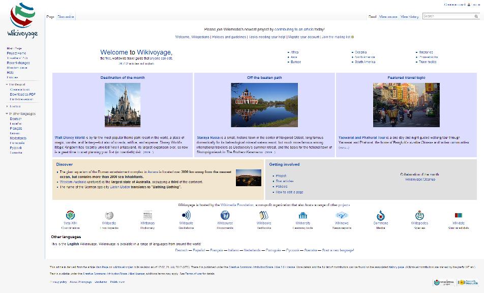 Pantallazo Wikivoyage